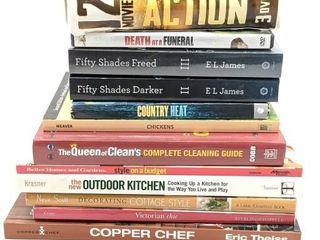 Cook Books, Home Design Books, DVDs and Fifty