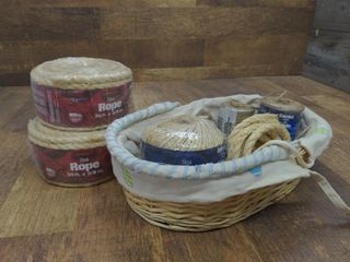 Basket and Rolls of Twine