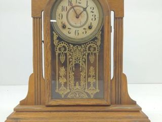 "Ingraham Mantle Clock 16""x5""x18"" Unknown"