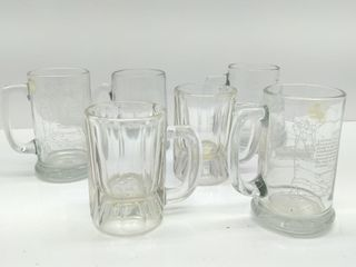 (6) Glass Mugs