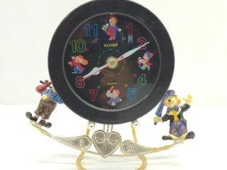 """Illusion Clown Clock 8"""" Tall"""