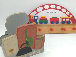 Children's Train Coat Rack, Bag Rack
