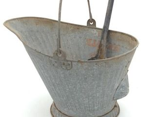 Metal Soot Bucket and Scoop