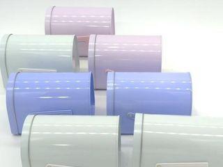 """(7) Mini Mailbox Tins 6.5""""x4""""x4.5"""""""