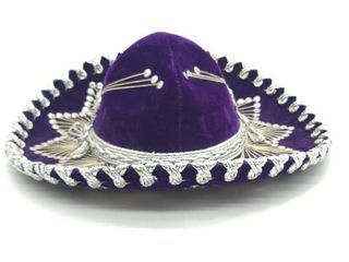 "Purple Sombrero 14"" Diameter"