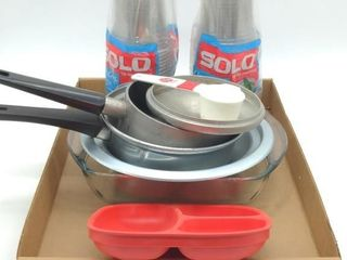 Clear Solo Cups and Kitchenware