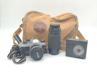 Cameras, Accessories, and Carrier Bag