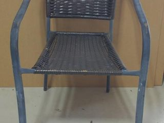 "Wicker and Steel Frame Chair 29"" Tall 20.5"" Wide"