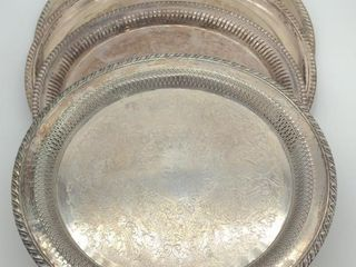 (4) Serving Platters