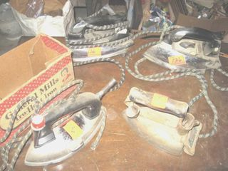 Collectible 4 electric irons