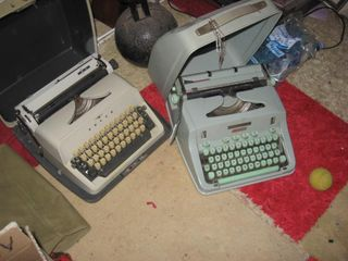 2 portable typewriters