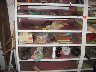 2 section metal shelf unit