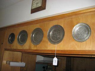 5 Persian metal plates