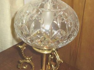 Brass   crystal desk lamp