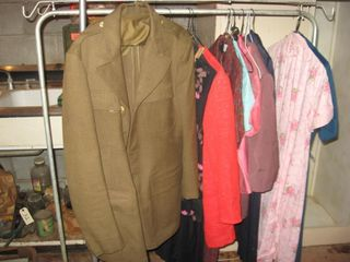 Metal clothes racks   Army Dress coat