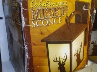 Cabela's Large Mission Sconce, New in box.