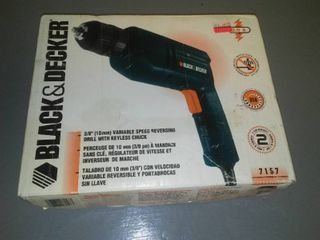 Black and Decker Corded Drill, New in box.