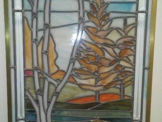 Stained Glass Art - The Tamarac Tree