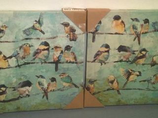Stretched Canvas Bird Prints (2)