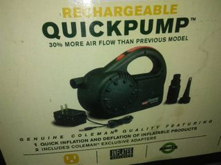 110 Coleman Rechargeable Quick Pump.