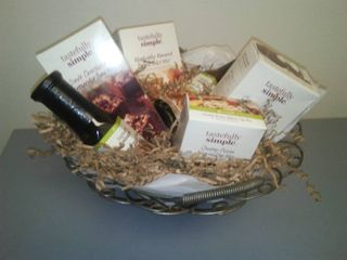 Tastefully Simple Basket.