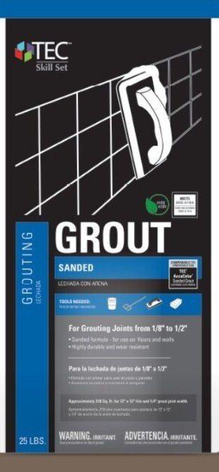 TEC Skill Set 25-lb Mocha Sanded Grout