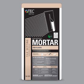 TEC Skill Set 50 lb Gray Powder Dry Thinset Mortar