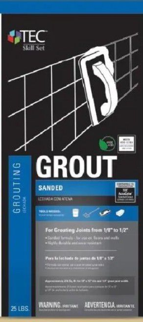 TEC Skill Set 25 lb Almond Sanded Grout