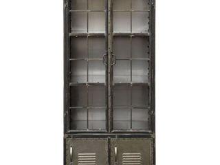 3R Studios Four Door Metal Cabinet