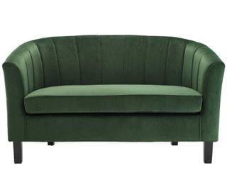 Modway Prospect Channel Tufted Upholstered Velvet loveseat