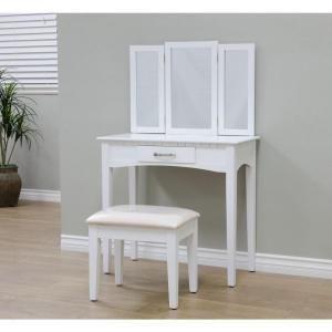 Frenchi Home Furnishing 2 Piece Home Furnishing Stool Set   Vanity  White