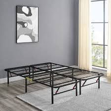 Amazonbasics Foldable  14  Metal Platform Bed Frame With Tool free Assembly  No