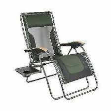 Black and green folding chair