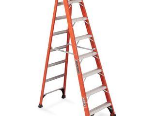 louisville ladder FS1408HD 375 Pound Duty Rating Fiberglass Step ladder  8 Feet