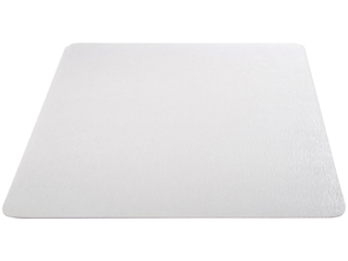 Deflect o EconoMat Clear Chair Mat  Hard Floor Use  Rectangle  Straight Edge  46 x 60 Inches  CM2E442FCOM
