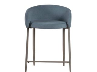 Hillsdale Furniture Cromwell Metal Counter Height Stool   34 25H x 23W x 24 25D  Retail 162 49 blue