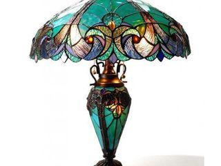 Chloe Tiffany Style Halston Double lit 2 1 light Table lamp  Retail 190 00