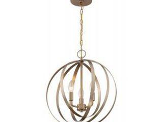 Pendleton 3 light Pendant Fixture   Burnished Brass Finish   Burnished Brass  Retail 186 99