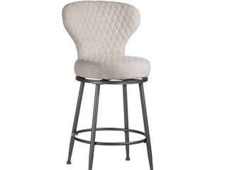 Carbon loft Bryant Upholstered Swivel Counter Height Stool  Retail 151 58