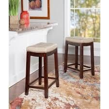 Copper Grove Ghindesti Backless Saddle seat Counter Stool tan