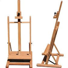 HJ 10 Red Beech Wood Portable Tabletop Easel Small Size Wood Color   27 5inch