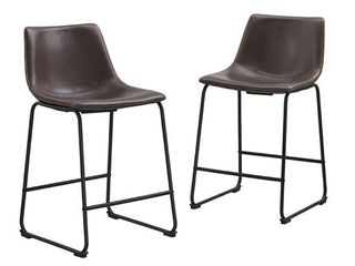 Carbon loft Prusiner Faux leather Counter Stool  Set of 2    Retail 161 99