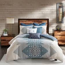 Carson Carrington Blue Cotton Printed Comforter 3 piece Set  Retail 93 49