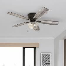 The Gray Barn Marlborough 52 inch Coastal Indoor lED Ceiling Fan with Pull Chains 5 Reversible Blades  Retail 159 49