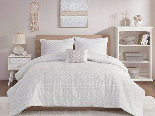 Intelligent Design Whitney Solid Clipped Jacquard Comforter Set