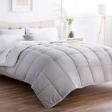 Brookside Striped Reversible Chambray Down Alternative Comforter Set
