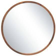 Carson Carrington Tallberg Round Mirror   Brown   Diameter 30  Retail 123 49