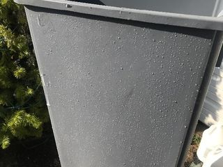 New gray slimline commercial trashcan large
