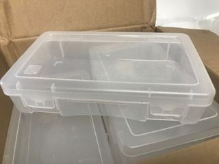 Case of 10 small plastic storage Benz 2 x 5 x 7