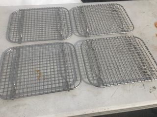 lot of four heavy duty stainless steel cooling racks or use for hot plates many uses